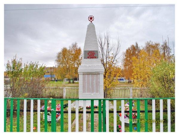 Памятник воинам в ярковском Сорокино