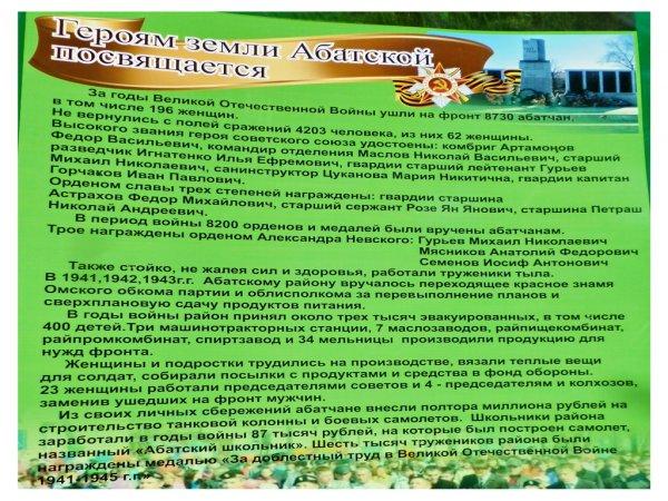Абатский район в годы Великой Отечественной войны